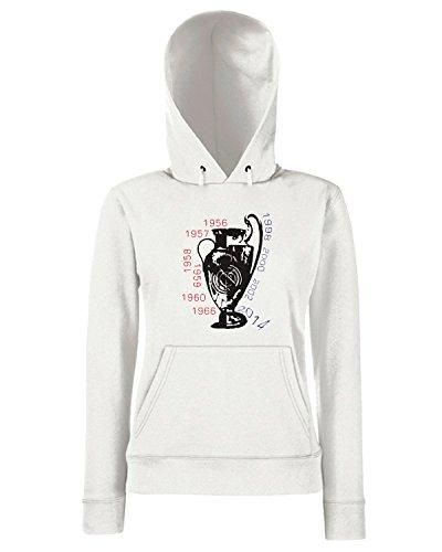 T-Shirtshock - Sweats a capuche Femme WC0281 Como no te voy a querer Blanc