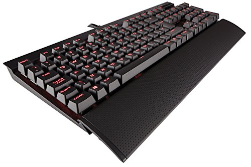 Corsair - CH9101021-UK K70 LUX Tastiera meccanica da gioco Cherry MX Blue con retroilluminazione rossa Cherry MX Brown