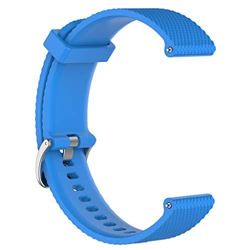 sunhoyu cinturino di ricambio per polar vantage m smartwatch, cinturino in silicone regolabile flessibile orologio sportivo accessori per polar vantage m sport fitness accessori, blu