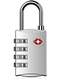 DOCOSS-309-TSA Approved Lock 4 Digit For USA International Number Locks For Luggage Bag Travelling Password Locks...