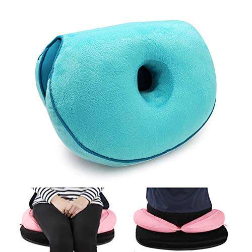 Latex-plüsch (Baiwka Frauen-Latex-Körnchen-Yoga-Kissen,Multifunktions-faltbares Taillen-Hinterteil-Plüsch-Kissen-rosa Krapfen-Sitzkissen, Beruhigende Stressbehebende Sitzhaltung änderte Die Hüfte)