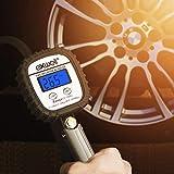 Exwell Manometro Digitale, Manometro Pressione Gomme, calibro digitale gonfiatore per pneumatici per tutti i veicoli, auto, manometro misuratore pressione aria moto -150 PSI