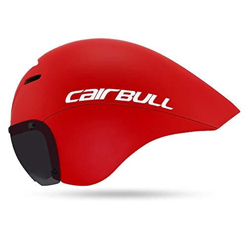 Baby Erwachsene Visier Jungen Kid weiß schwarz mütze Beleuchtung Blinker Fahrradhelm TT-red_M / L (55-61cm)