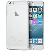 doupi UltraSlim AllClear Case per iPhone 6 6S (4,7 pollici) satinato fine piuma facile Mat semi transparente Copertura Tacsa Custodia Caso Cover - transparente
