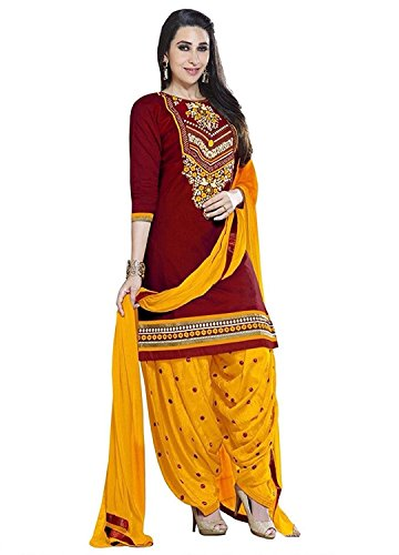 Jashvi Creation Women\'s Cotton Unstitched Dress Material (SB_DM Combo_1679, Red)