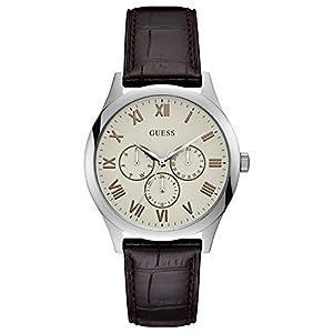 Guess Reloj Analógico para Hombre de Cuarzo con Correa en Cuero W1130G2