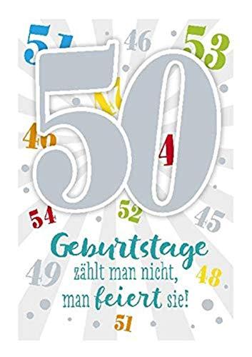 Depesche 5698.067Tarjeta de felicitación con música, 50cumpleaños