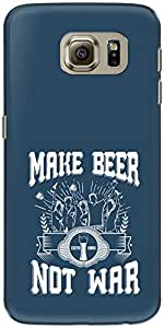 The Racoon Grip printed designer hard back mobile phone case cover for Samsung Galaxy S6. (Make Beer)