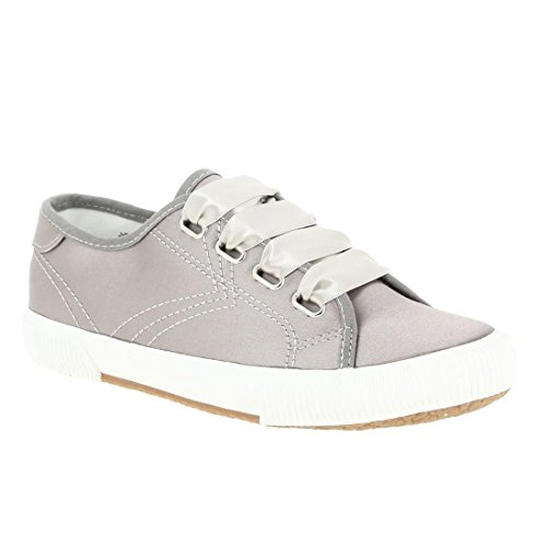 Tamaris Damen 23610 Sneaker Silber (Pewter Satin)