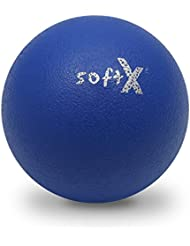 softX Ball mit Coating 18 cm blau Weichschaumstoff Kinder Spielball Methodik
