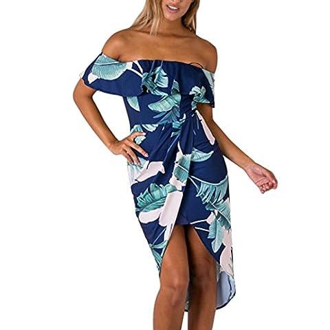 La Taille Des Robes Dété - Bluestercool Femmes Robe imprimée pour plage de