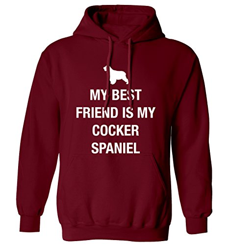 My best friend is my cocker spaniel con cappuccio, taglie XS-XXL Bordeaux (Cocker Spaniel Tail)