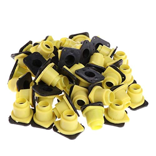yuiopmo 15 Imkerei Queen Bee Haar Roller KäFige Zelle Becherhalter Und Befestigungen,Imkerei Zeichenrohr Tool (2.6x2.2 mm, Gelb) -