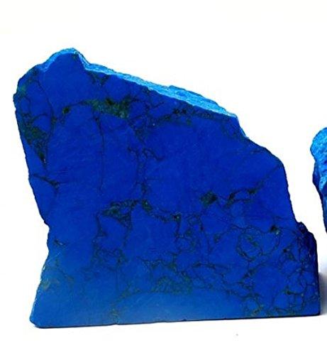 Charonia - pietra minerale di howlite, 120/150 g, colore: turchese