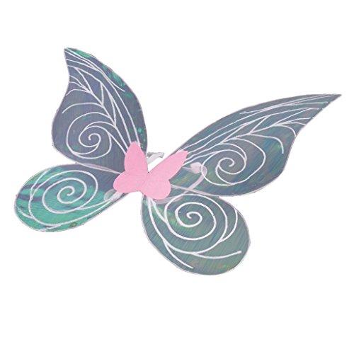 Fairy Glitter Kostüm - Homyl Schmetterlings Flügel Butterfly Wings Fairy Ladies Kostüm Accessory Große Schmetterlingsflügel Schmetterling Kostüm Damen Karneval Cosplay Accessoires Umhang - Rosa, 46cm * 42cm