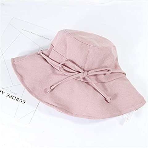Hatrita-J Korean Summer Style Bow Knot Fisherman'S Straw Hat Lady'S Outdoor Vacation Sun Protection Woman