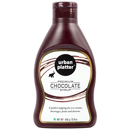 Urban Platter Premium Chocolate Syrup, 650g / 22.9oz [Vegan, Perfect Topping, Premium Quality Chocolatey Treat]