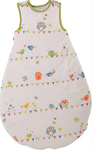 roba Schlafsack, 90cm, Babyschlafsack ganzjahres/ganzjährig, aus atmungsaktiver Baumwolle, Baby- und Kleinkinderschlafsack unisex, Kollektion 'Waldhochzeit' -