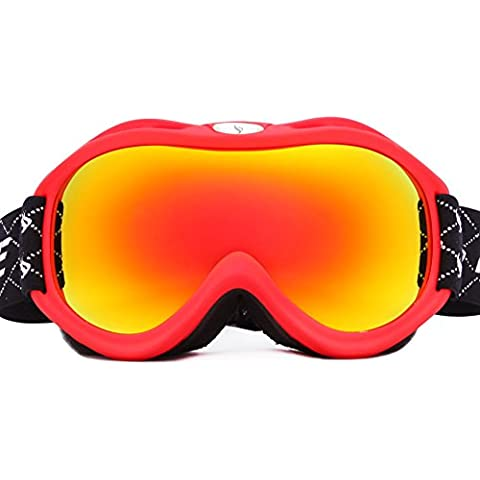 Nicelife specchio sci Double-Layer antinebbia occhiali da sci da neve 500,501 specchio nero classico