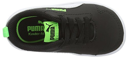 Puma Unisex-Kinder Courtflex Inf Low-Top Schwarz (puma black-puma white 03)