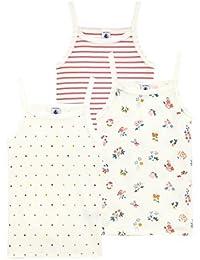 Petit Bateau Camiseta de Tirantes para Niñas (Pack de 3)