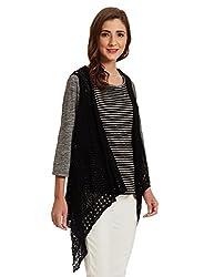 US POLO Womens Cotton Sweatshirt (UWFL0094_Black_XX-Large)