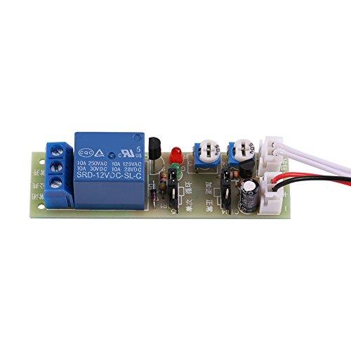 DC5V / 12V / 24V Temporizzatore Relè Ciclico Ritardo, Temporizzatore ON OFF Modulo 0-15min / 0-60min Regolabile(DC12V,0-15min)