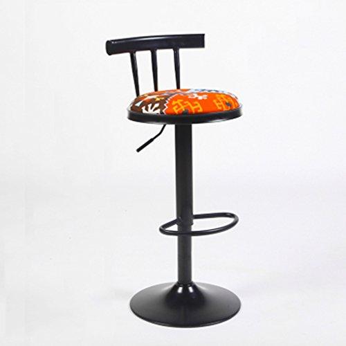 ZXMJBD GRJH® Barhocker, Barhocker Iron Art Lift Sessel Rotating Continental Vintage Hoher Hocker Sicherheit,Gemütlich (Farbe : #9) (Swivel Küche Hocker)