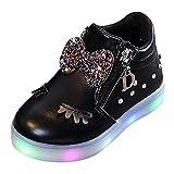 cinnamou LED-Leuchtschuhe Babyschuhe Baby Jungen Mädchen Crystal Bowknot warme Stiefel mit Reißverschluss Wimpern warme Stiefel weiche Sohle Prinzessin Kinderschuhe
