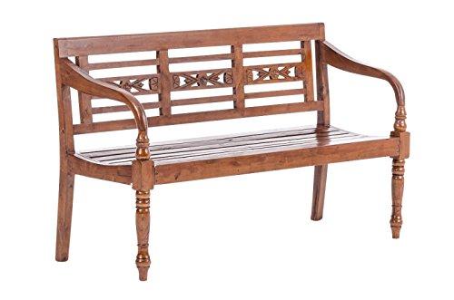 2-Sitzer Gartenbank Luana, Landhausstil – Metall antik-braun