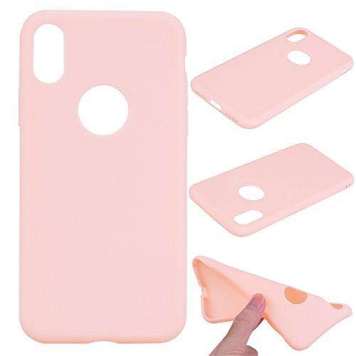 iPhone X Hülle, Voguecase [Shockproof] [Fallschutz] Rüstung Schutz Etui Soft TPU Silikon Stoßfeste Protective Cover Case für Apple iPhone X(Dunkelblau) + Gratis Universal Eingabestift Pink