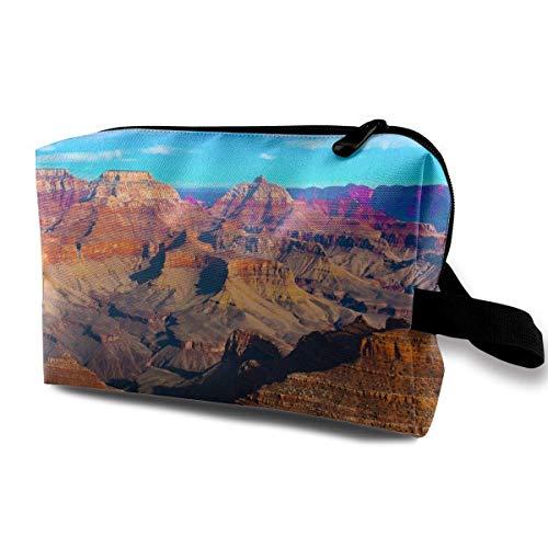 The Beautiful Landscape Of Grand Canyon National Park Arizona Travel Toiletries Bag Sturdy Organizer Cosmetic Handbag For Women Men Portable