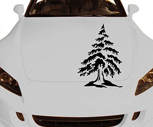 Herbst Blatt 2-licht (Autoaufkleber Baum Tannenbaum Kiefer Bäume Pflanze Äste Blätter Blüten Ranke Herbst Wald Auto Aufkleber 1E080, Farbe:Lindgrün glanz;Hohe:60cm)