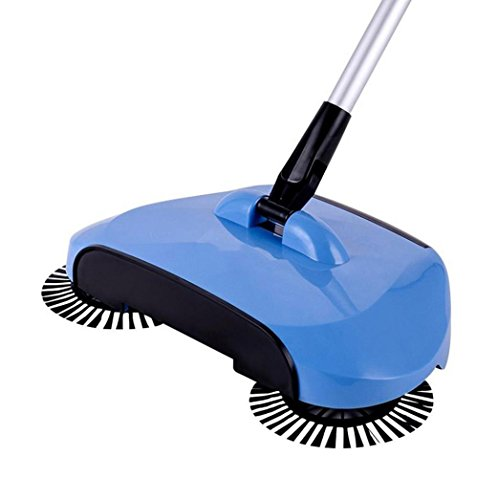 Rotary Sweeper (Clode® Hand Push Sweeper Broom 360 Rotary Home Gebrauch Magic Manual Teleskopboden Staubwischer (Blau))