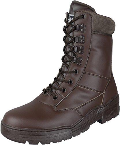 Stivali militari da combattimento per cadetti e addetti alla sicurezza con cerniera laterale leggeri in pelle