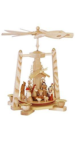 Richard Glässer Seiffen Pyramide de Noël scène de la Nativité, hauteur 27 cm, Erzgebirge originale de Richard Glaesser