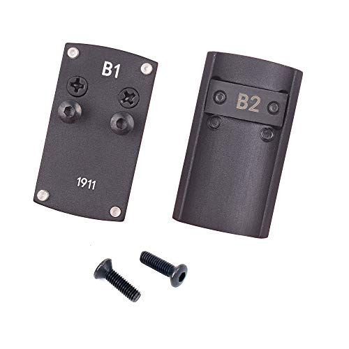 Huenco Optik Beretta 92 Glock 17 19 22 1911 Adapterplatte für Pistolenreflexvisierhalter für Burris Vortex Micro Red Dot Scope