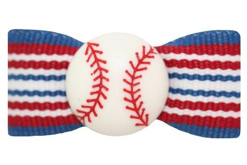 mit 2Latex Bands für Hunde (Rot, Weiß, Blau, Haar-bögen)