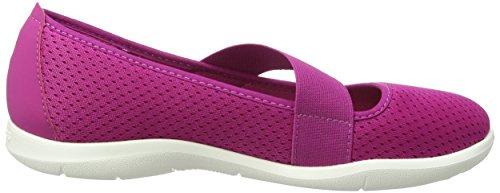 Crocs Swftwtrflatw, Ballerine Donna Viola (Vibrant Violet/White)