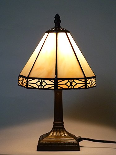 Bella-Vita Dapo Tischleuchte Dana im Tiffany Stil Lampe Leuchte Dekoleuchte Tischlampe -