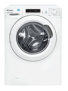 Candy CS1282D301 Freestanding Front-load 8kg 1200RPM A+++ White washing machine - washing machines (Freestanding, Front-load, White, Left, LCD, Stainless steel)