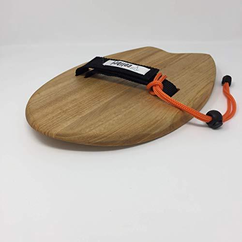 Handboard - handplane Bodysurf de madera de Paulownia Shape: Tail swallow. Medio tunel en el bottom para tener mayor estabilidad. Rocker medio para evitar picar la ola. Outline afilado en el tail para tener potencia de giro y maniobrabilidad. Grip de...