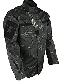 Mens Army Combat Tactical Military Shirt ACU Surplus New All BTP Black Jacket Top Smock