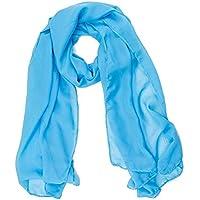 ManuMar Schal für Damen | feines Hals-Tuch in Unisex-Farben Uni-farben als perfektes Sommer-Accessoire | Das ideale Geschenk für Frauen