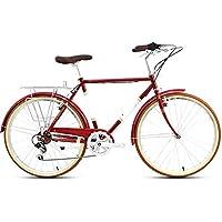 XMIMI Velocidad de la Bicicleta Retro Hombre Commuter Car City Car Adult Bicicleta 26 Pulgadas 7 Velocidad