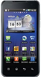 LG P990 OPTIMUS Speed Dual-Core Smartphone (10,16cm (4 Zoll) Touchscreen, Android 2.2, 8 MP Full-HD Video, Nvidia Tegra 2, HDMI, GPS) schwarz
