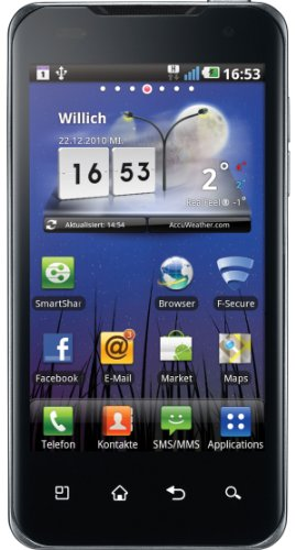 LG P990 OPTIMUS Speed Dual-Core Smartphone (10,16cm (4 Zoll) Touchscreen, Android 2.2, 8 MP Full-HD Video, Nvidia Tegra 2, HDMI, GPS) schwarz Dual-core Mobile