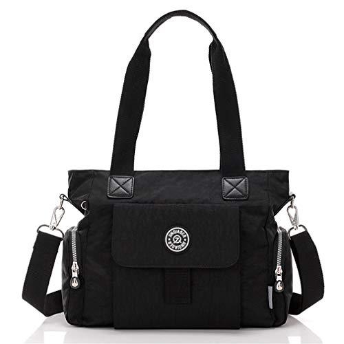 Umhängetasche für Frauen Feste Messenger Bags weibliche Tote Black 35x12x27(cm) -