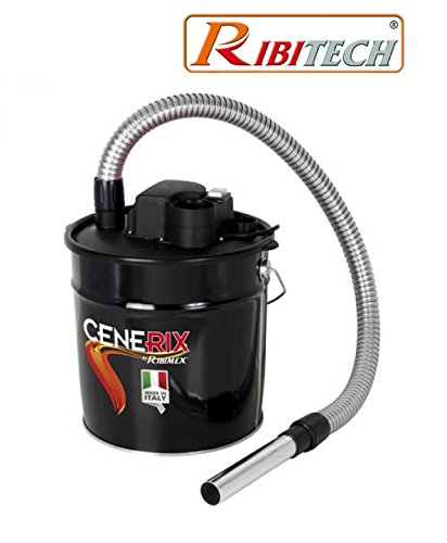 Aspiratore/aspiracenere/aspiraceneri/aspirapolvere/aspira pellet 800w 18lt. con funzione soffiatore ribitech - cenerix prcen003