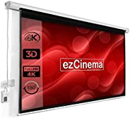 ezCinema Imported Automatic motorised Remote Controlled Projector Screen, 84-Inch Diagonal in 4:03 Aspect Form